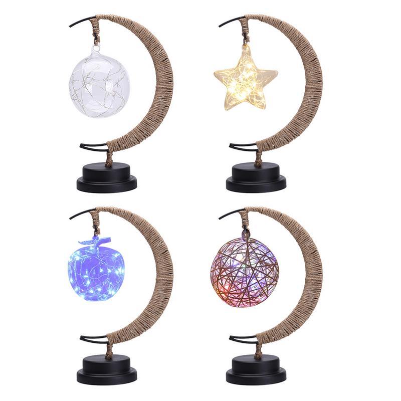 Décoration lumineuse LED Croissant de Lune avec étoile | oko-oko