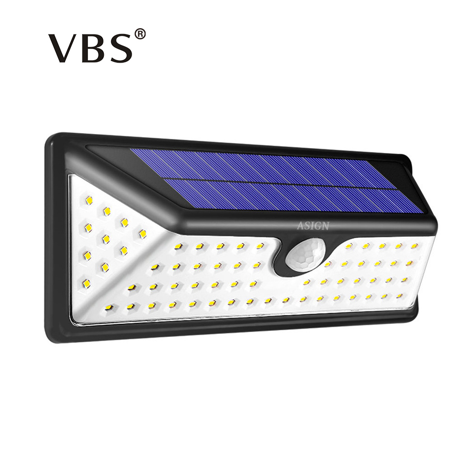 led solar power lamp pir motion sensor wall light 73 leds outdoor waterproof energy saving. Black Bedroom Furniture Sets. Home Design Ideas