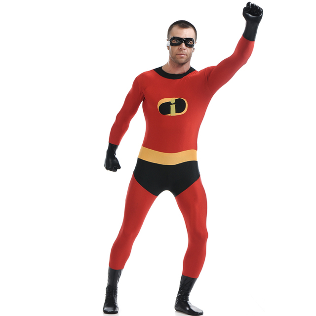 the incredibles costume mr incredible bob parr cosplay zentai full body catsuit halloween costume for