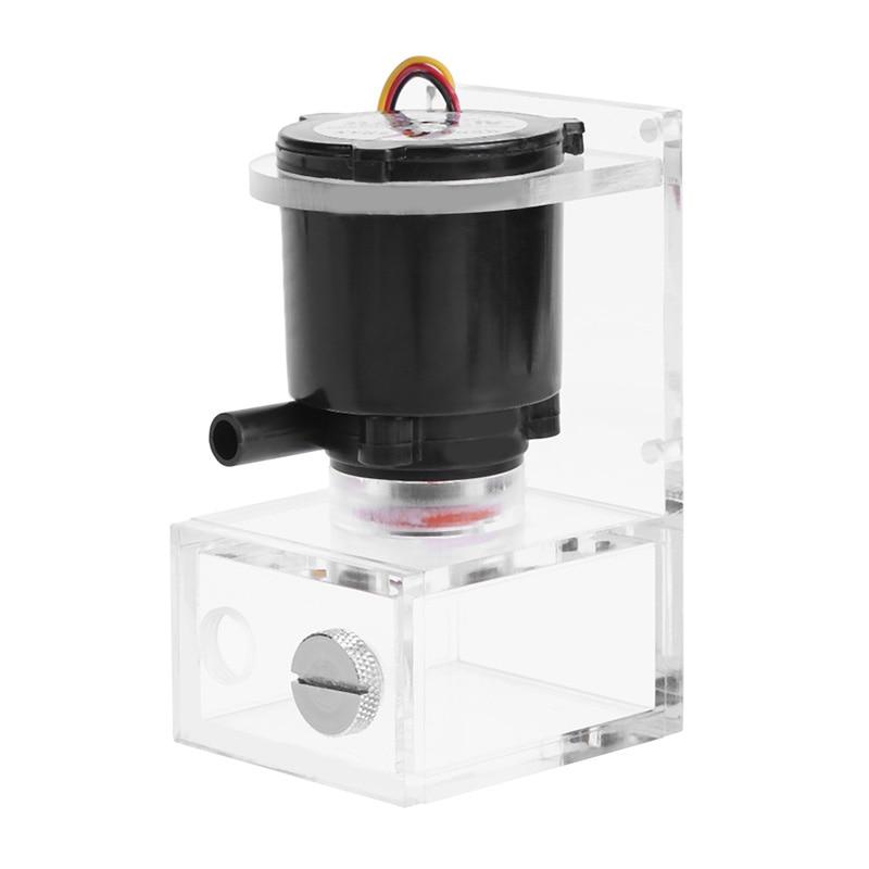 все цены на DC 12V 4W PC Water Cooling Circulation Pump Water Tank Accessory DIY Kit for Computer Components Cooling Fan Cooler Water Pump онлайн