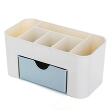 Plastic Dust-proof Office Storage Box White Key Pen Makeup Cosmetic Lipstick Card Sundries Drawer Desktop Articles Organizer uv ink printed barcode card and plastic member key card 3 part supply