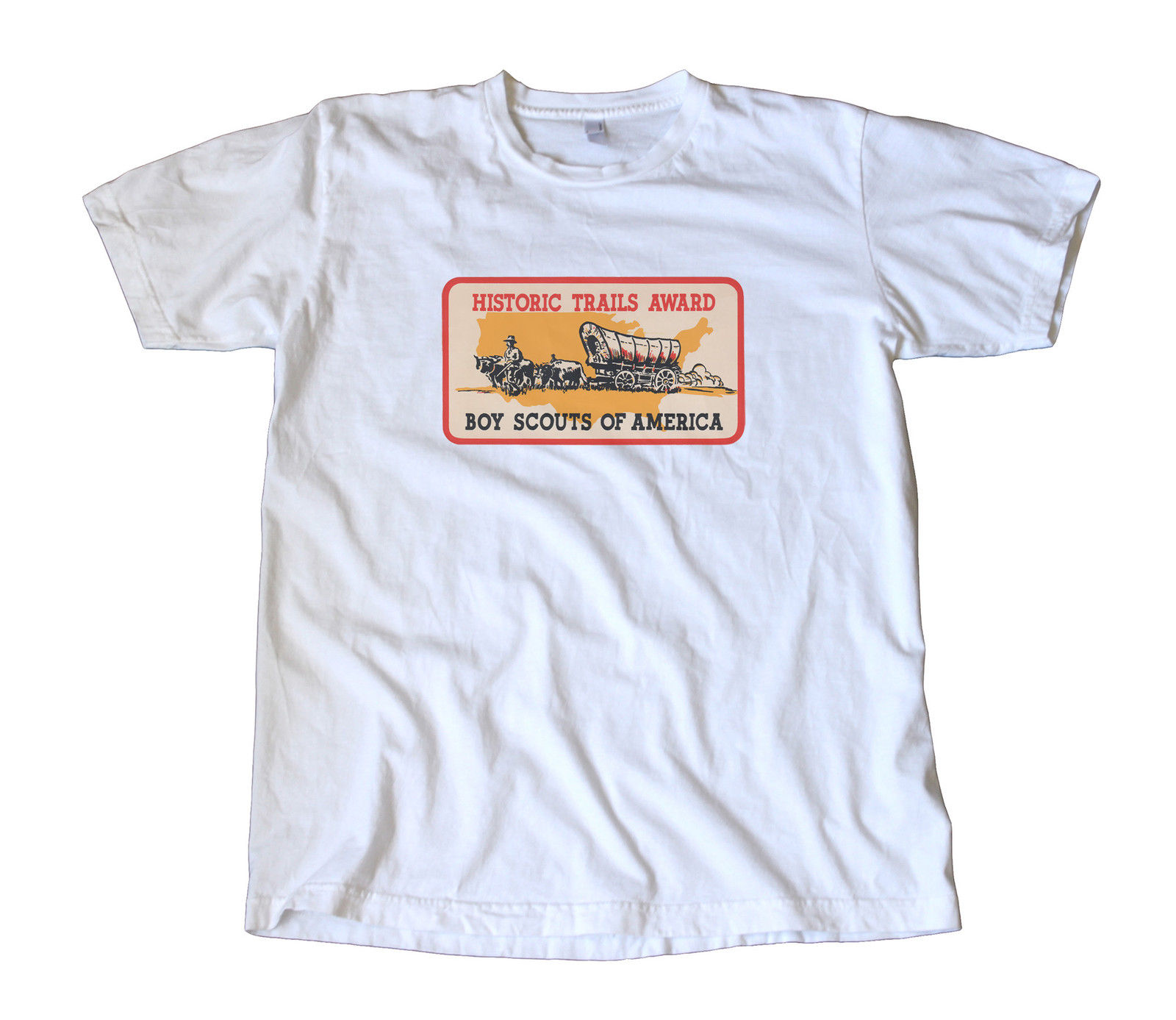Vintage Boy Scouts Historic Trails Award Decal T-Shirt , National Parks image