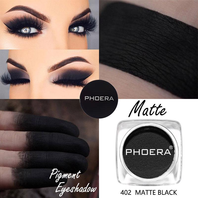 PHOERA Make-Up Matte Lidschatten Lebendige Pigment Pulver Lidschatten Langlebige Einfach Tragen Lidschatten Frauen Make-Up Kosmetik