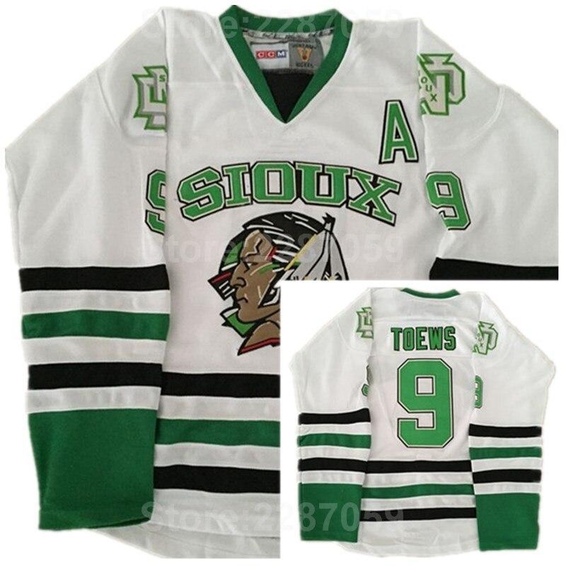 Ediwallen North Dakota Fighting Sioux 9 Jonathan Toews College Ice Hockey  Jerseys Men Sale All Stitched 020b983b0