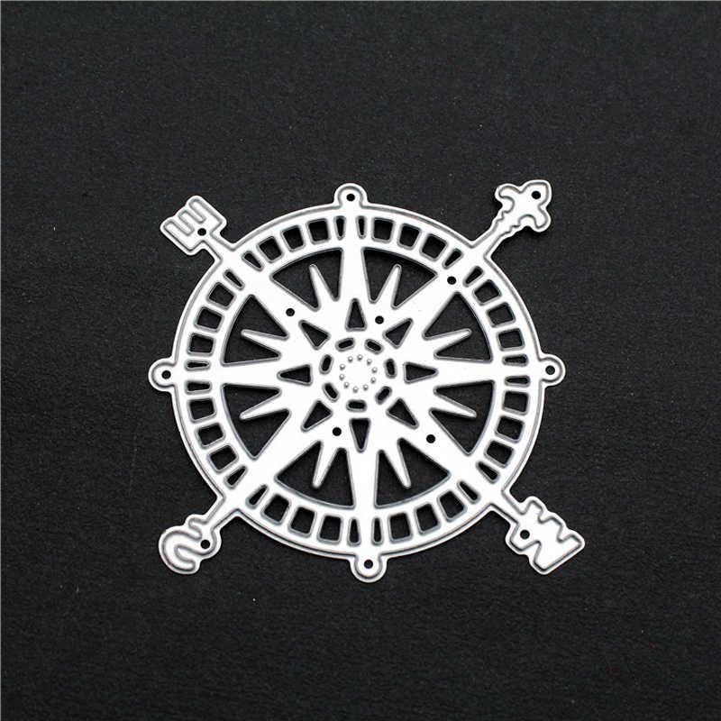 Bússola de Formas De Corte De Metal Morre Estêncil Para Scrapbooking Álbum de fotos Decoração Do Ofício Embossing Morre Corte de Papel Cartão