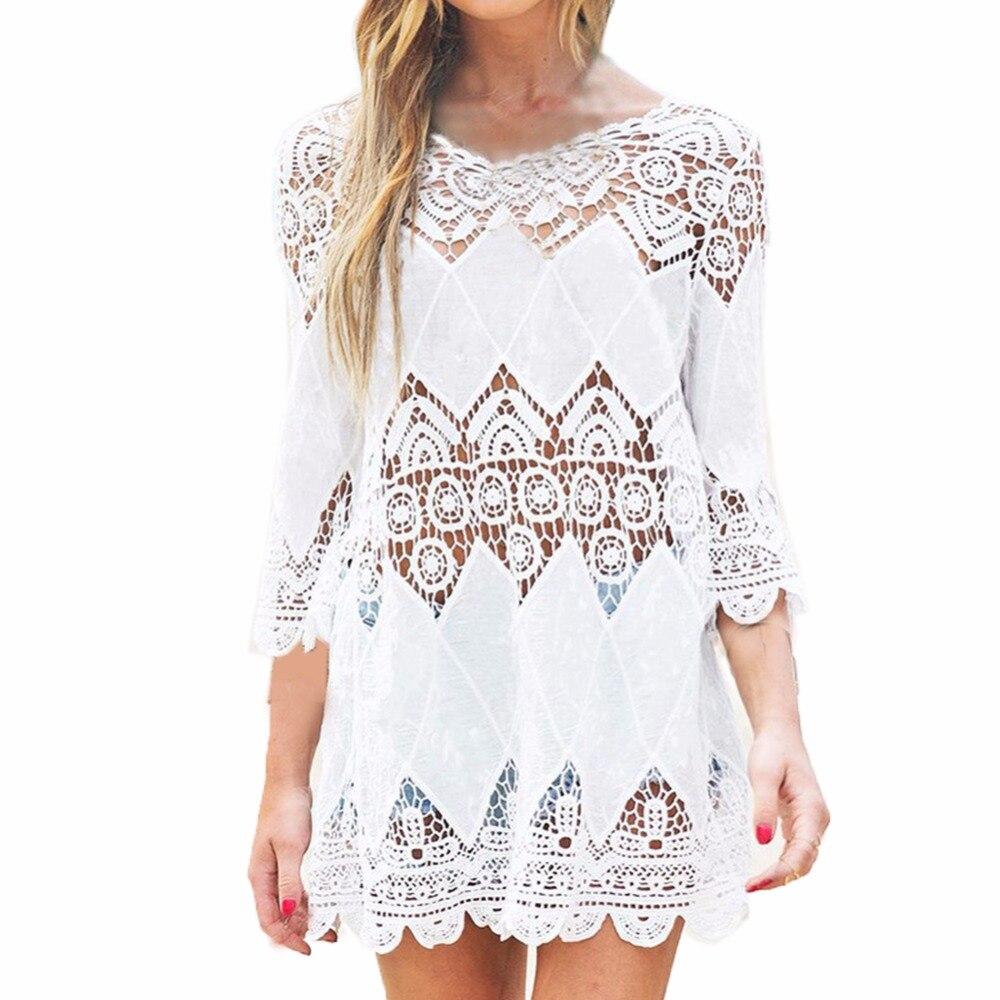 Nova chegada do verão 2018 blusa camisas femininas oco para fora floral sol blusas branco floral chiffon topo blusa roupas camisa feminina