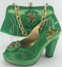 Italian Shoe With Matching Bag New Design Ladies Matching Shoe And Bag Italy High Quality African Shoes And Bag Set ME3315