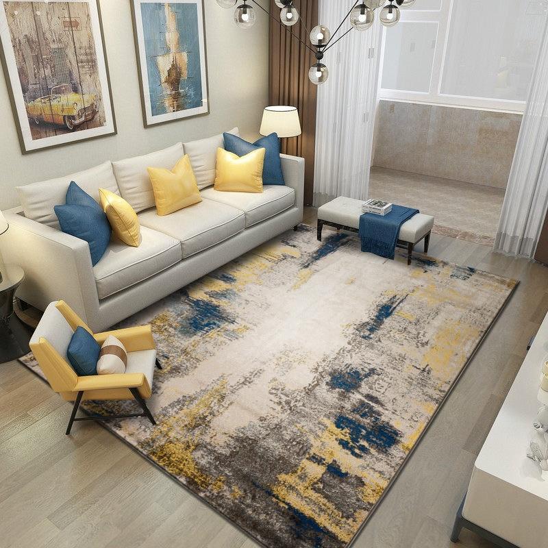 Tapis abstraits pour salon décor à la maison chambre tapis canapé Table basse tapis de sol épais tapis d'étude chambre nordique tapis