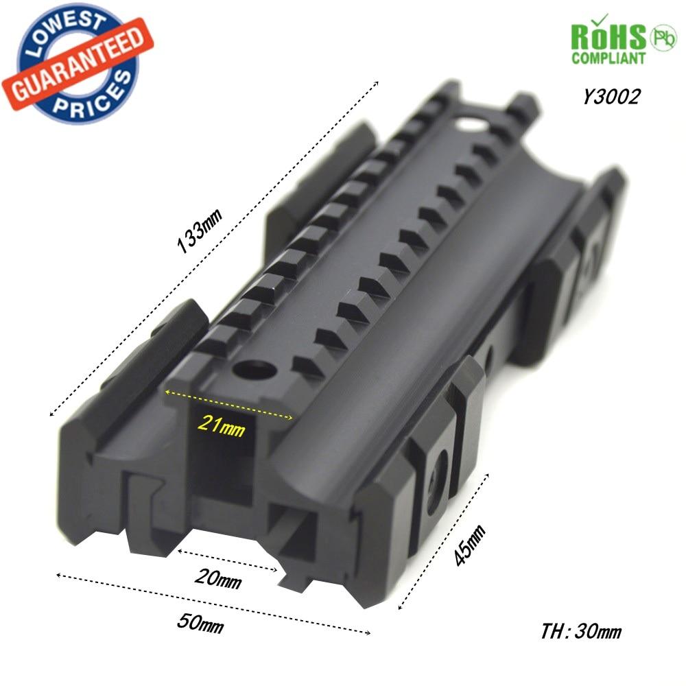 1 UNID Y3002 Riel de montaje en riel de montaje en riel Montaje en riel con llave hexagonal para MP5 / G3 pistola bases de alcance alcance