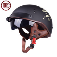 DOT Cruiser Men S Motorcycle Helmet Harley Open Face Half Vintage Helmet T553 Moto Casque Casco