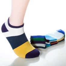 Multi Color Stripe Cotton Socks for Men (5 Pairs/Set)