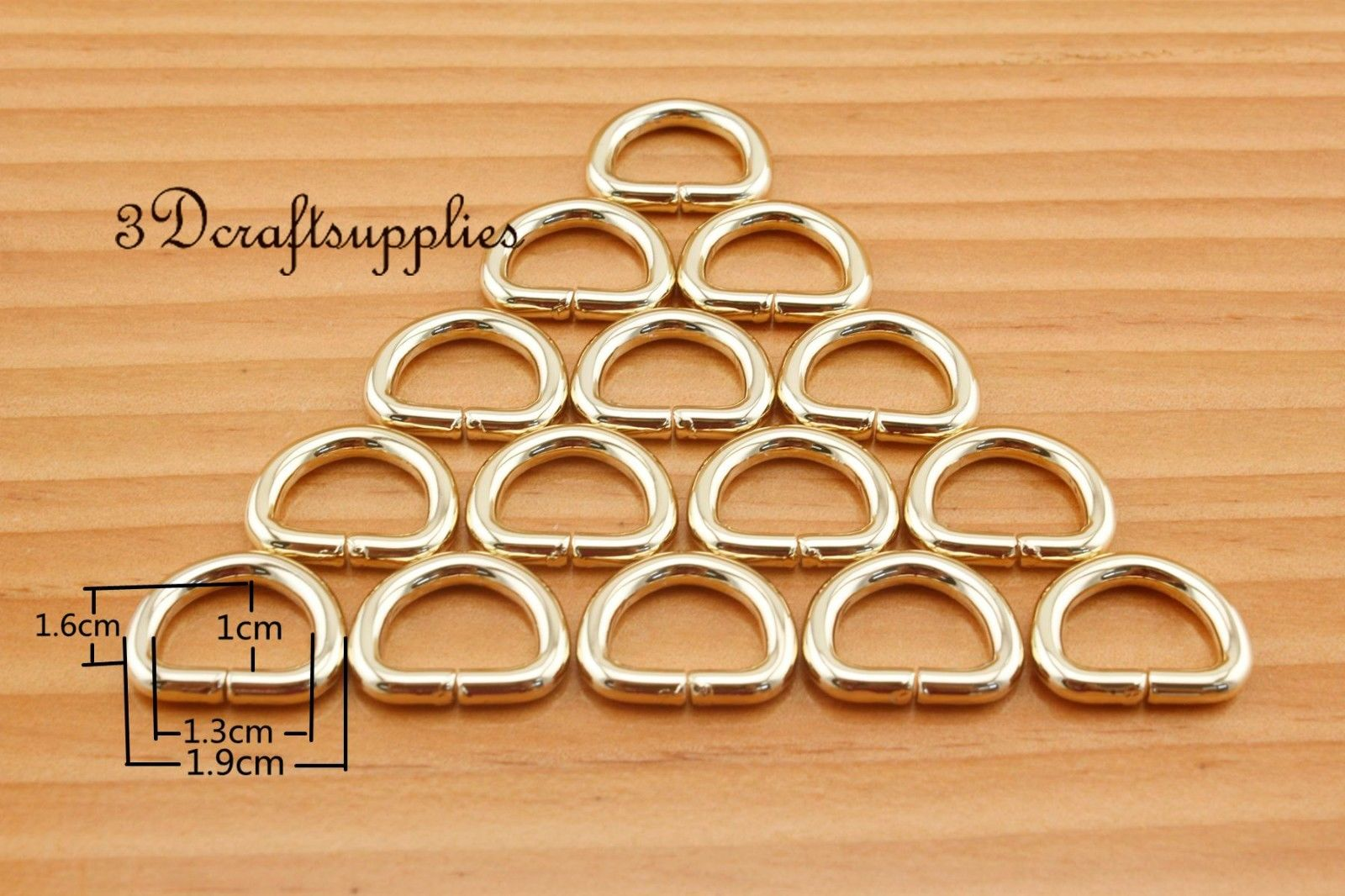 12MM d ring d-rings purse ring Webbing Strapping metal light gold 1/2 inch 20pcs U169
