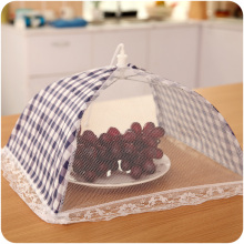 Blue Small Size Food Covers Umbrella Style Kitchen Cooking Tools Meal Cover Gauze Jacquard Lace Table Food Cover For Kitchweare