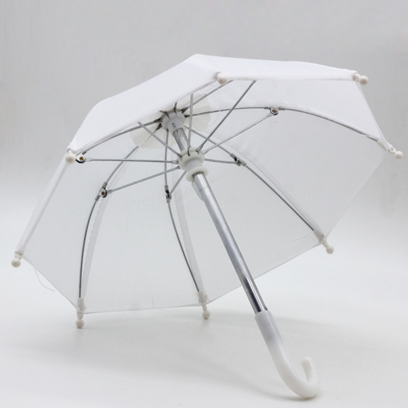 Various Color Low Price New Mini Umbrella Rain Gear Baby Doll Life Trip Doll Accessories for Kid