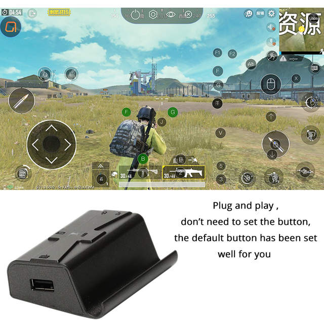 US $25 91 27% OFF|Sovawin G1X Plug and Play PUBG Mobile Gamepad Controller  Gaming Keyboard Mouse Android Phone to PC Converter Adapter for iPhone -in