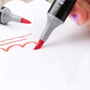 Image 1 - Finecolour 480 Colors Dual Brush Markers EF102 Set Alcohol Based Ink Sketch Art Marker School Supplier