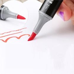 Finecolour 480 colores doble pincel marcadores EF102 juego de tinta a base de Alcohol Sketch arte marcador proveedor escolar