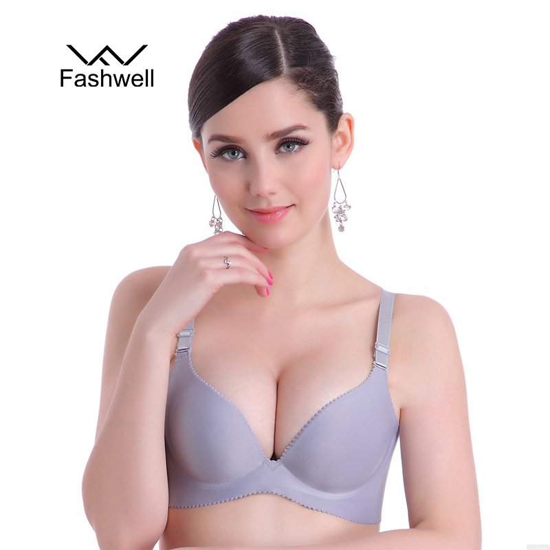 New Fashion Lady Solid Bras Women Push Up Bra Deep V Sexy Brassiere Underwear Seamless Wire