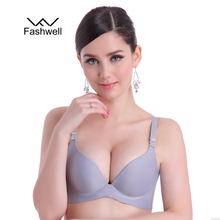 New Fashion Lady Solid Bras Women Push Up Bra Deep V Sexy Brassiere Underwear Seamless Wire Free Bras For Women