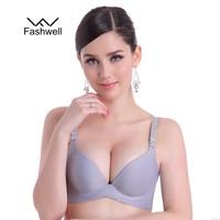 New Fashion Lady Solid Bras Women Push Up Bra Deep V Sexy Brassiere Underwear Seamless Wire