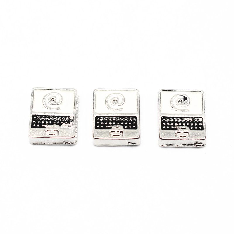Hot selling 20pcs/lot silver computers floating charms jewelry for living glass memory floating lockets Accessories