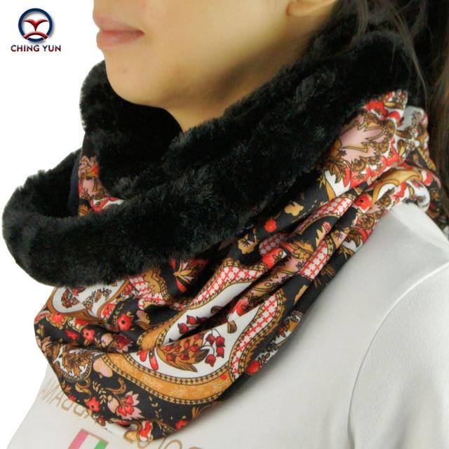 2016 новый большой кольцо стиль цветочные женская мода зима шейный платок шарфы вокруг шеи Женщин Обертывания 2-носить стили дамы глушитель