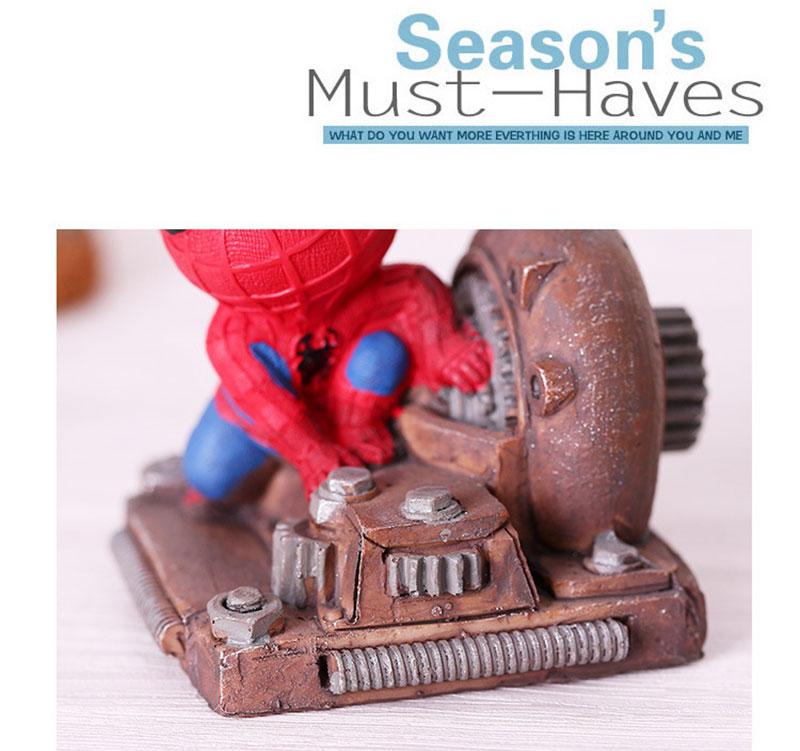 Cartoon Avengers Action Figures Spider Man Night Lamp Resin Children Bedroom LED Night Light for Boy Kids Xmas Creative Gift (8)