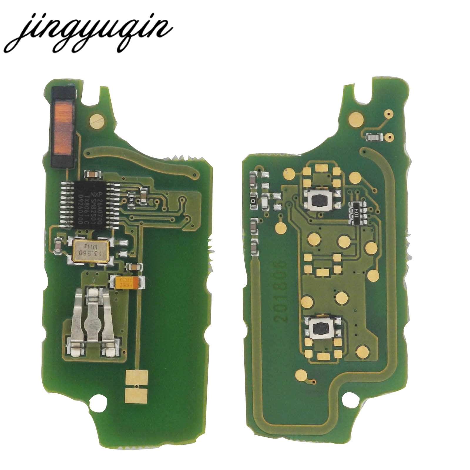 jingyuqin 2 Button Remote Flip Car Key Electronic Board For Peugeot 307 308 408 407 207 Citroen C2 C3 C4 PICASSO PCF7961 CE0536 jingyuqin silicone case for peugeot 208 207 308 rcz 408 407 307 206 for citroen c4 c5 c3 c2 c4l xsara picasso car flip key cover