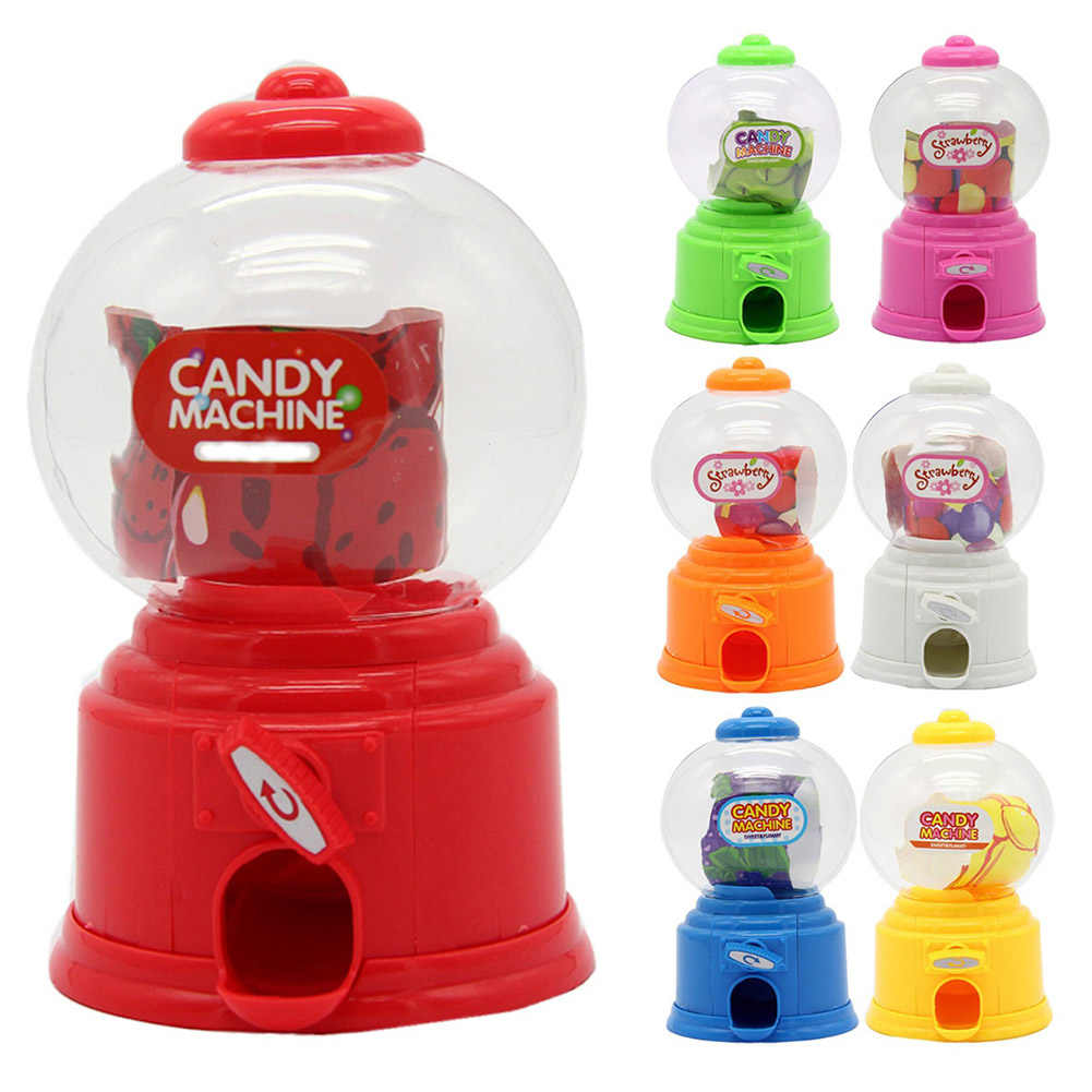 New Hot Cute Sweet Mini Candy Machine Bubble Dispenser Coin Bank Kids Toys Children Gift  Dispenser Box Bottle
