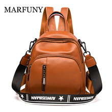 2019 Women Leather Backpacks Female Shoulder Bag Sac A Dos Ladies Bagpack Vintage School Bags For Girls Travel Back Pack New