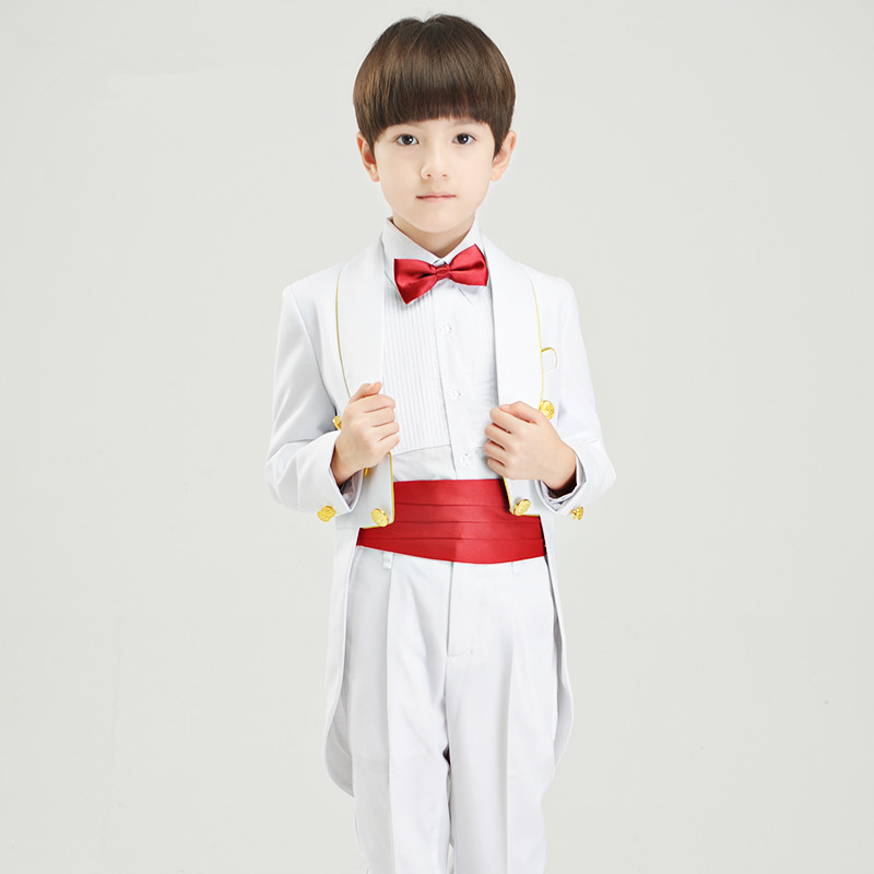 2018  new fashion baby boys kids children tuxedos suits boy suit for weddings formal black white piano performances tuxedo dress high quality school uniform new fashion baby boys kids blazers boy suit for weddings prom formal gray dress wedding boy suits