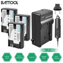 цена на BATTOOL 2.8Ah Battery + Charger for Canon 7D Mark II Camera for Canon 6D 60D 60Da 70D 80D for EOS 5D Mark II III IV 6D Mark II