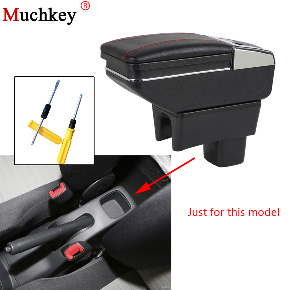 For SUZUKI Swift 2005 2018 Car Armrest box central Console Armrest Store content box cup holder