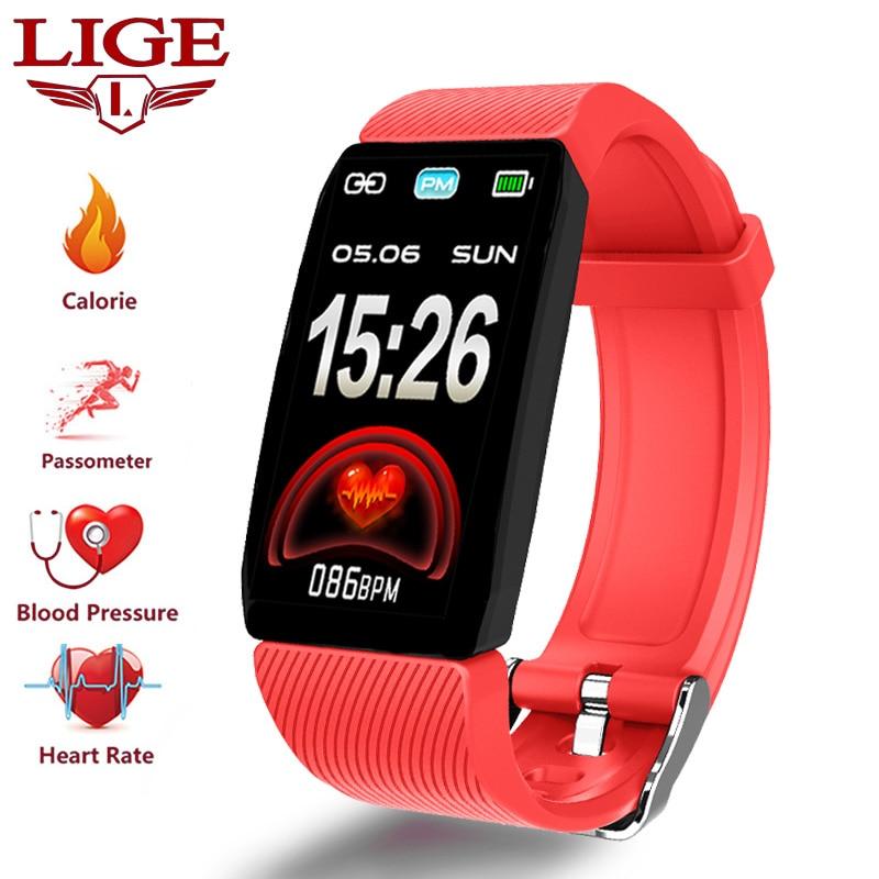 LIGE Novo 1.14 Tela Grande Inteligente Pulseira Atividade Rastreador De Fitness Saúde pulseira de Relógio Inteligente Para Android ios inteligente À Prova D' Água
