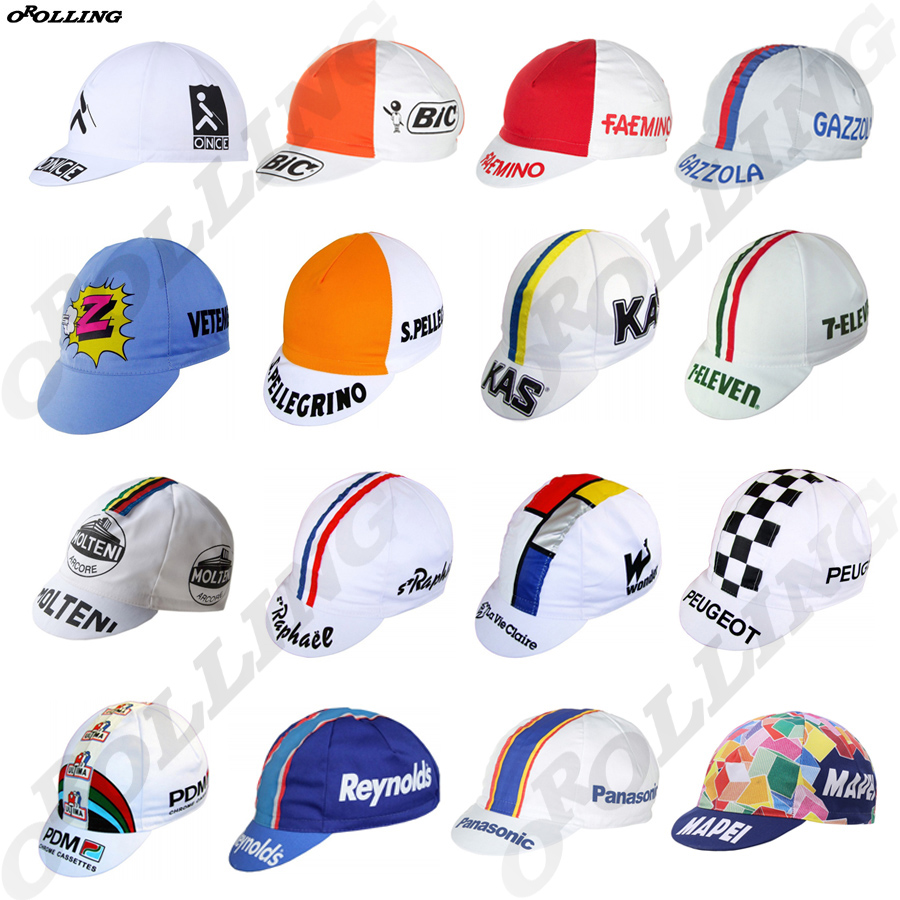 Classical Retro Multi Styles New Team Pro Cycling Caps Headwear Road Mountain Bike Race OROLLING