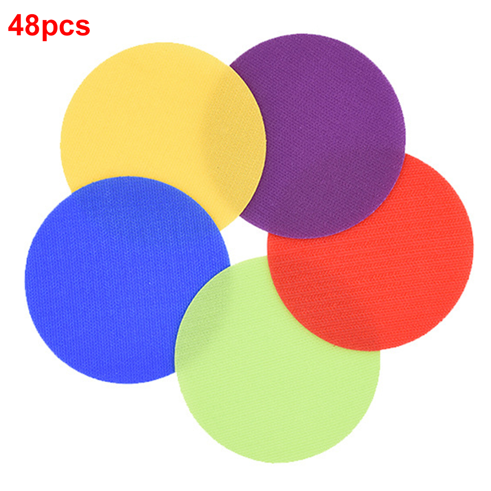 6 Colors Flat Spot Markers Children Game Training Tag Toys Kindergarten Preschool Magic Sticker Floor Sitting Classroom Round