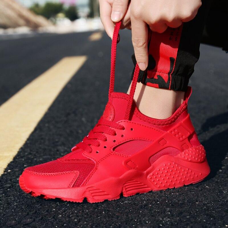 Zapatillas transpirables para correr para mujer Zapatos deportivos blancos Mujer Zapatos Zapatillas De Corrientes De Verano rojo chussure Homme De marca