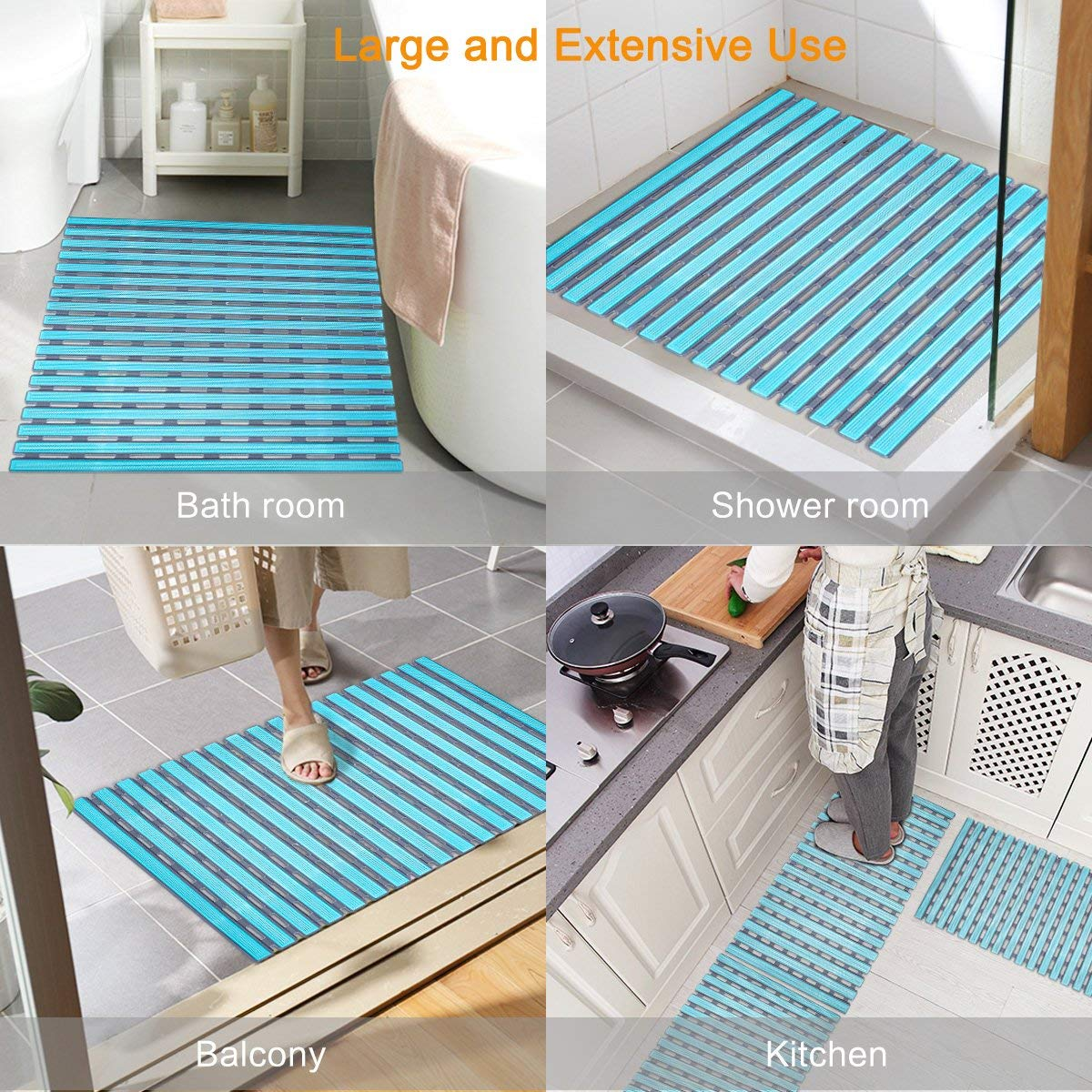 Reasonable Professional Non Slip Bath Mat With Suction Cups Bathroom Kitchen Door Floor Tub Shower Safety Mats Anti-bacteria Bath Mat Wide Selection; Bathroom Products Home & Garden