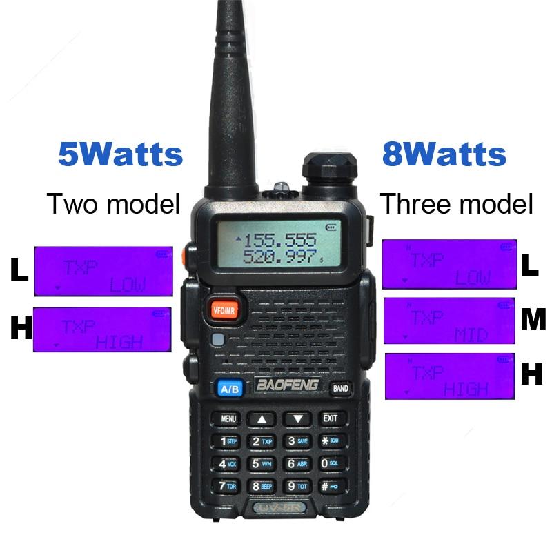Image 5 - Baofeng UV 5R Walkie Talkie two way communicator Transceiver FM UV5r VHF UHF Portable pofung UV 5R Hunting CB Ham Radio Station-in Walkie Talkie from Cellphones & Telecommunications