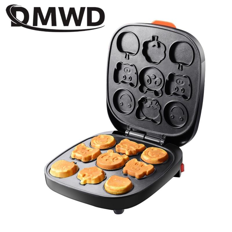 DMWD Automatic Non-stick Electric Cartoon Waffle Maker Muffin Pancake Maker Mini Crepe Cooker Multifunction Children Breakfast