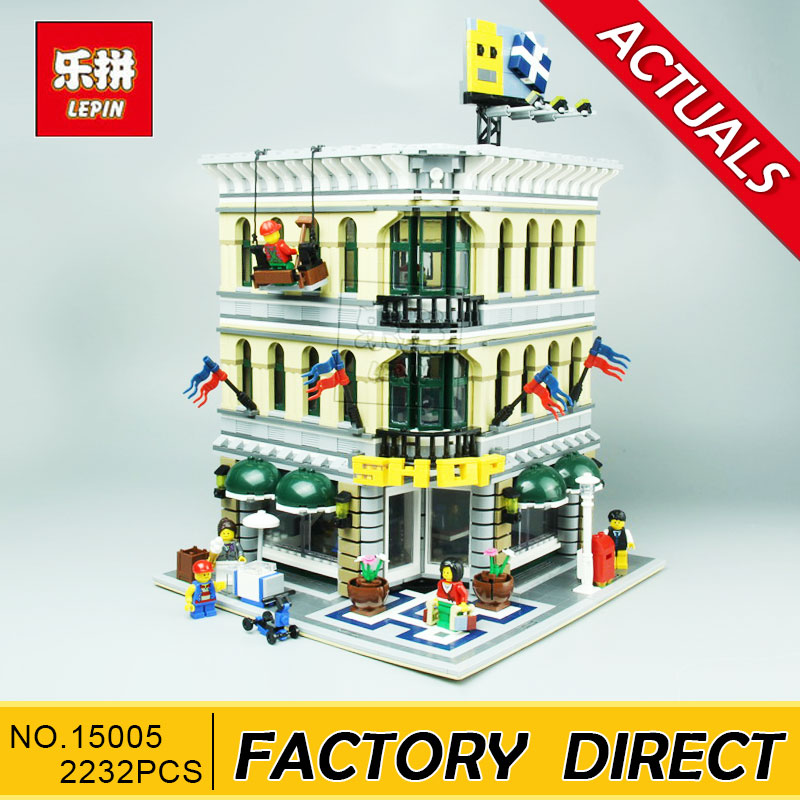 Lepin 15005 2232Pcs City Grand Emporium Model Building Blocks Kits Brick Toy Compatible 10211 a toy a dream lepin 15008 2462pcs city street creator green grocer model building kits blocks bricks compatible 10185