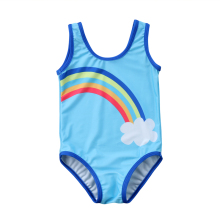 da70d9008a7cb GLANE Toddler Kids Baby Girl Rainbow Striped Print One-Piece Bikini Set  Swimwear
