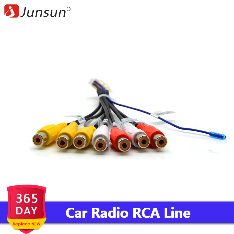 Junsun Car Stereo Radio RCA Output Wire Aux-in Adapter Cable