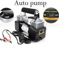 NEW 12V car compressor inflator double cylinder pump 150PSI motorcycles bicycles audio pump
