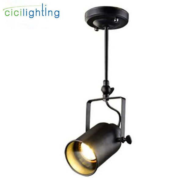 Industrial LOFT 5W Cob Led Spotlights American Style Ceiling Spotlight Rod  Lighting Store Project Vintage Ceiling