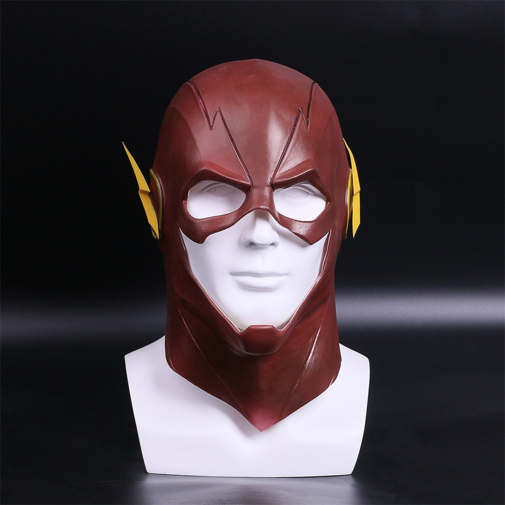 The Flash Mask DC Barry Allen Mask Cosplay Costume Prop Halloween Full Head Latex Party Masks (1)