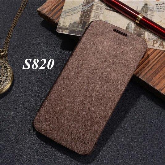 Lujo Clásico Estilo Simple flip cubierta funda de piel Para Lenovo S820 Caja Del
