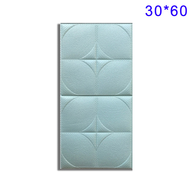 PE Foam 3D Wall Stickers Safty Home Decor Wall Paper Kit DIY Decal Brick 60x60cm