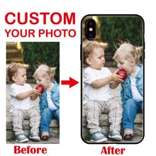 цены Personalized Custom Photo Image DIY Gift Soft Silicone Phone Case Cover Coque Fundas For iPhone 6 6S XS Max 7 7Plus 8 8Plus 5 X