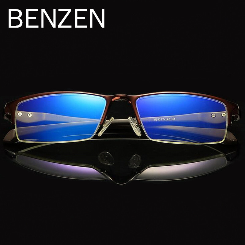 BENZEN Anti Blue Rays Computer Glasses AL-MG Reading Glasses Male Anti-blue Ray Eyeglass Frame Eyewear Gaming Glasses 5089